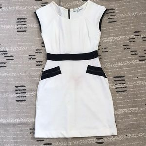 Professional White Fitted Dress